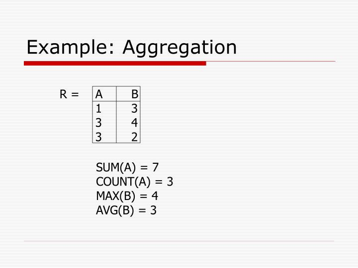 Example: Aggregation
