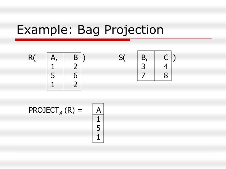 Example: Bag Projection