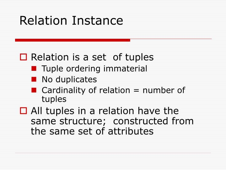 Relation Instance