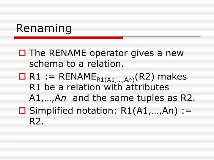 Renaming