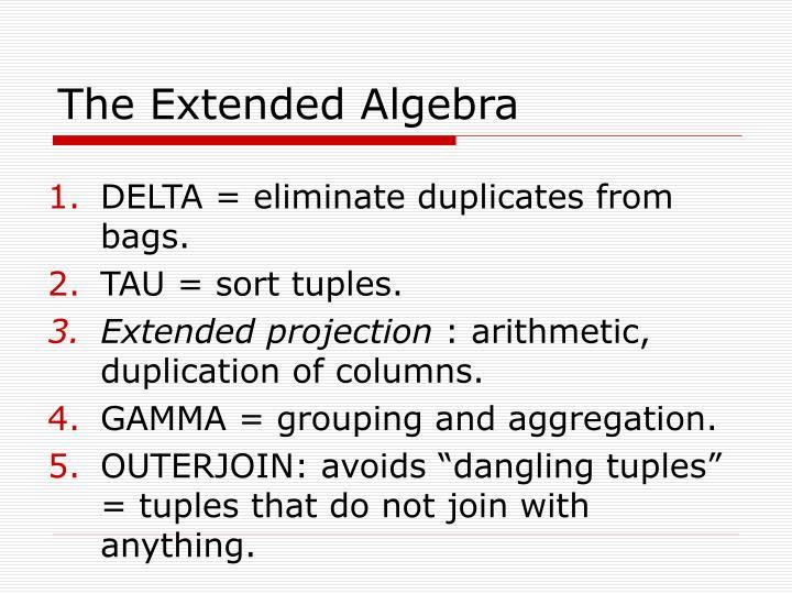 The Extended Algebra