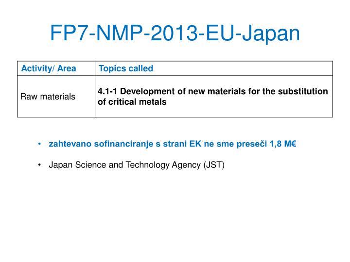 FP7-NMP-2013-EU-Japan