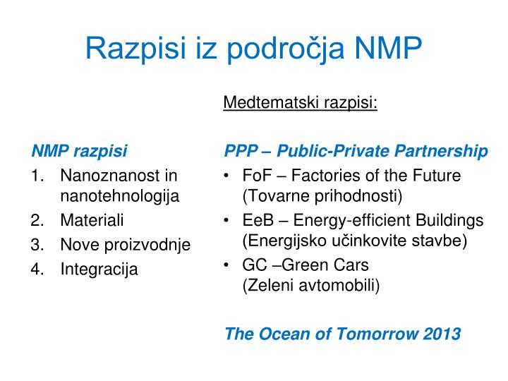 NMP razpisi