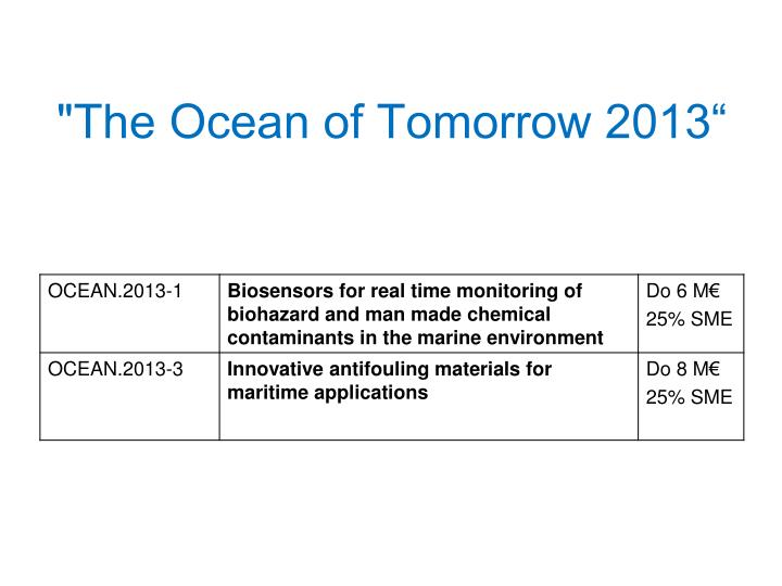 """The Ocean of Tomorrow 2013"""