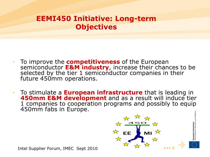 EEMI450 Initiative: Long-term Objectives