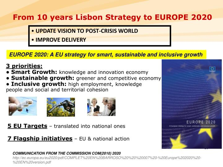 From 10 years Lisbon Strategy to EUROPE 2020