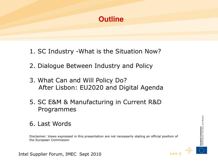 1. SC Industry -What is the Situation Now?