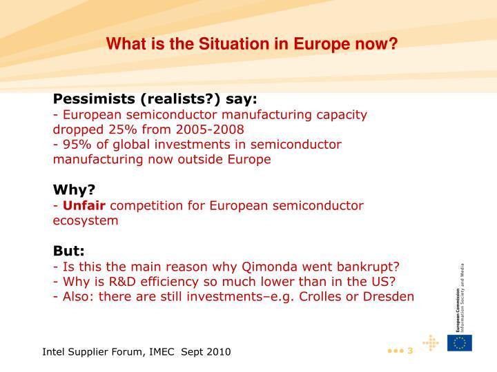 Pessimists (realists?) say: