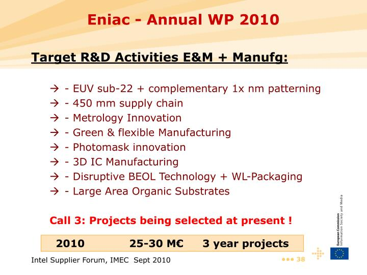Eniac - Annual WP 2010
