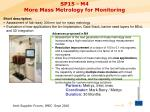 sp15 m4 more mass metrology for monitoring