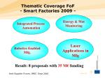 thematic coverage fof smart factories 2009