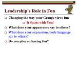 leadership s role in fun3