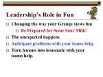 leadership s role in fun5