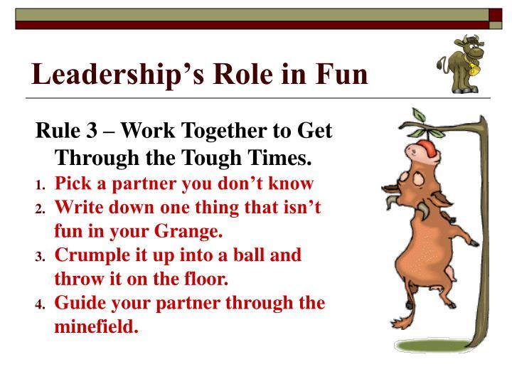 Leadership's Role in Fun
