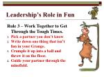leadership s role in fun6