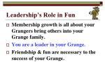 leadership s role in fun9