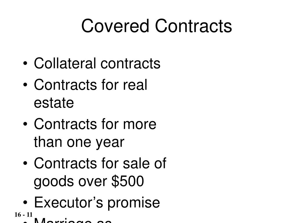 Covered Contracts