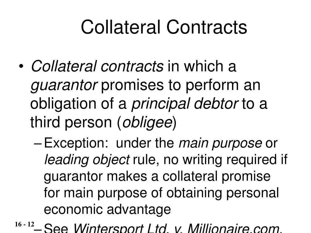 Collateral Contracts