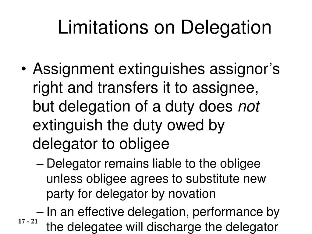 Limitations on Delegation