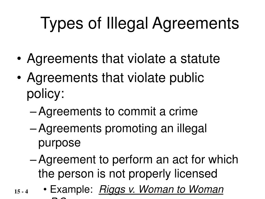 Types of Illegal Agreements