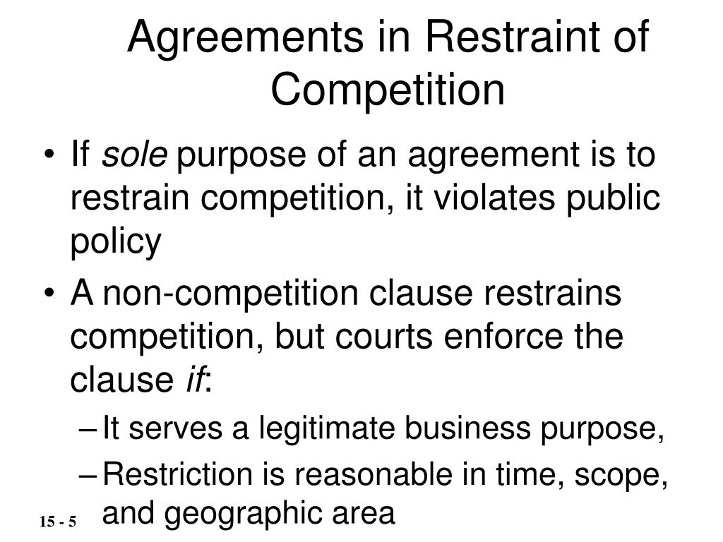 Agreements in Restraint of Competition