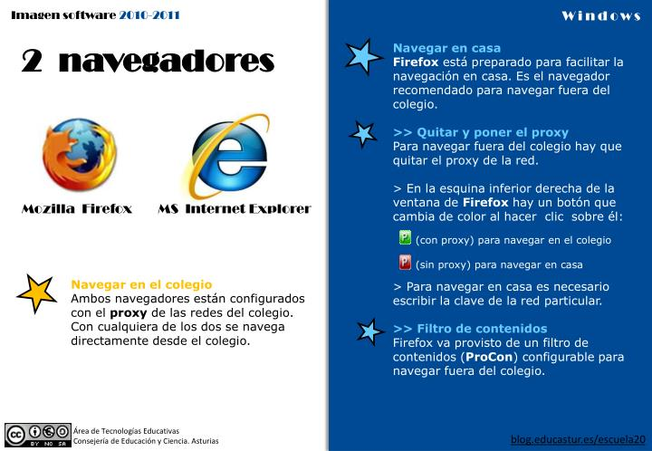 2  navegadores