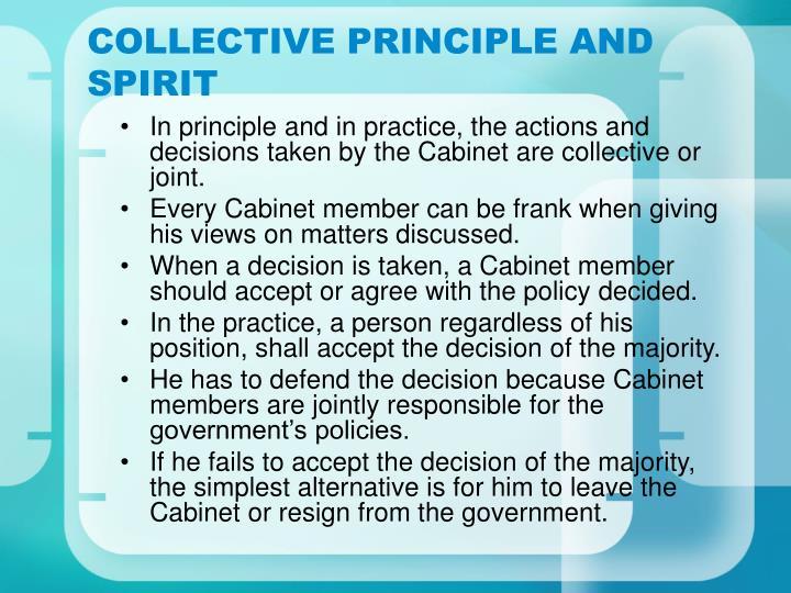 COLLECTIVE PRINCIPLE AND SPIRIT