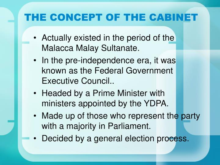 THE CONCEPT OF THE CABINET