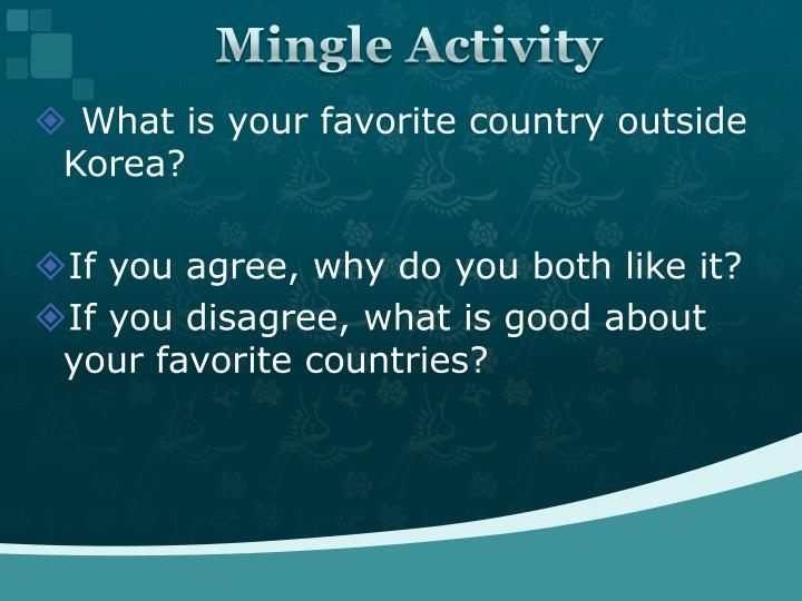 Mingle Activity