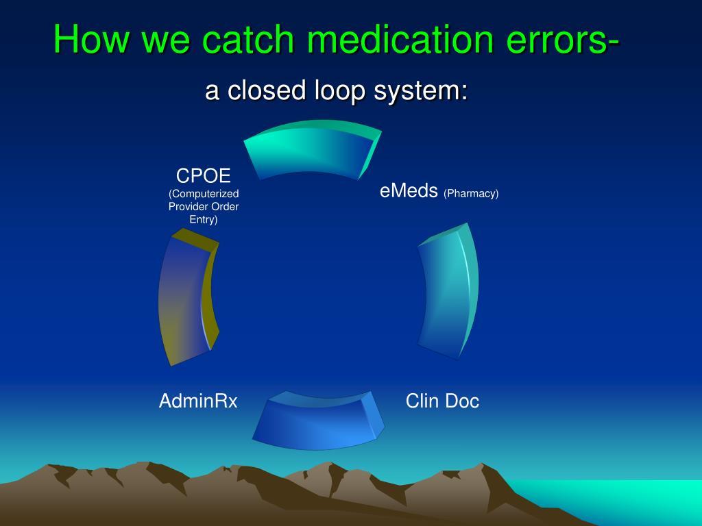 How we catch medication errors-