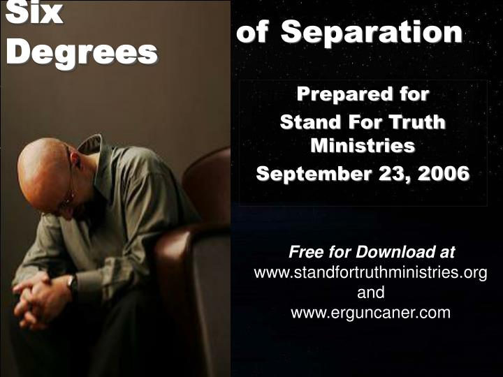 Of separation