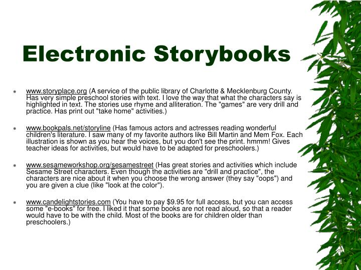 Electronic Storybooks