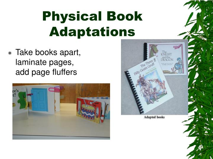 Physical Book Adaptations