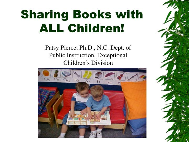 Sharing books with all children