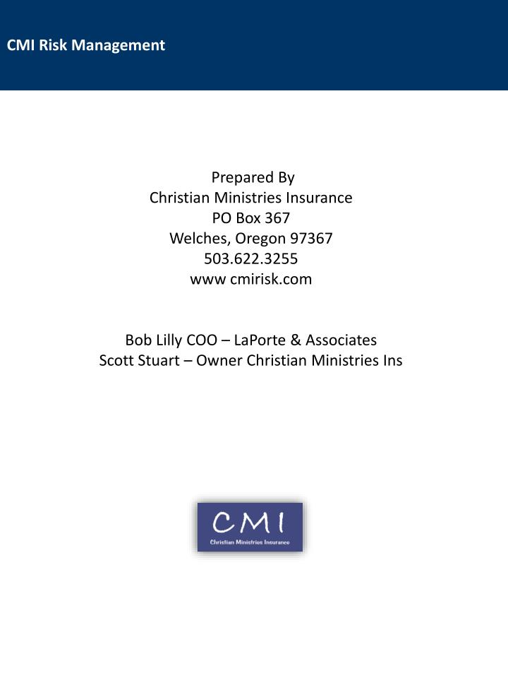 Cmi risk management