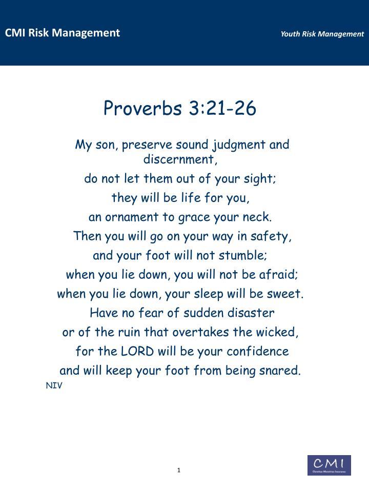 Proverbs 3:21-26