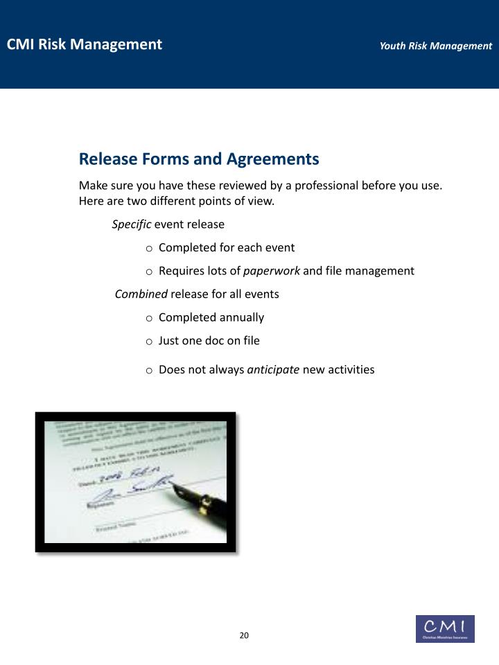 Release Forms and Agreements