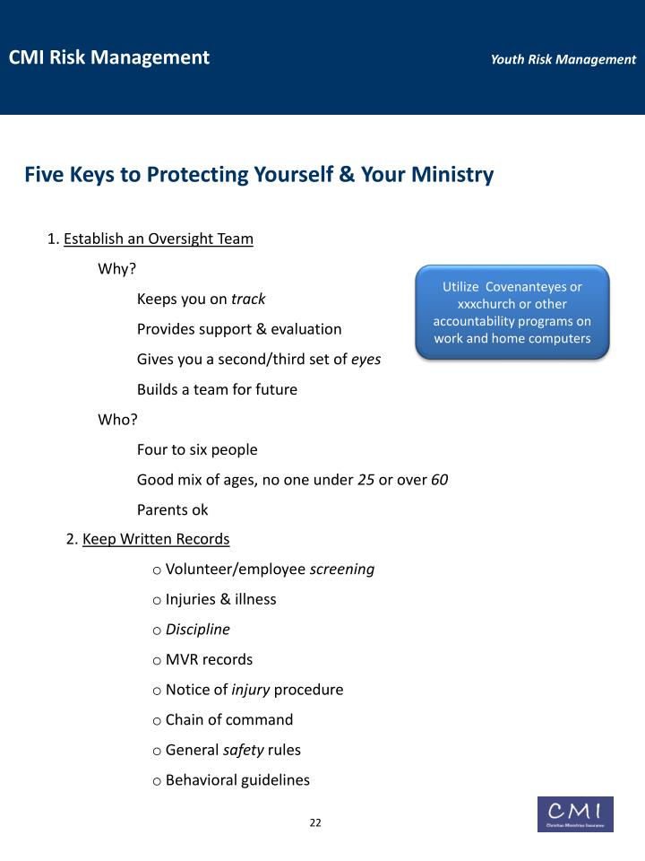 Five Keys to Protecting Yourself & Your Ministry