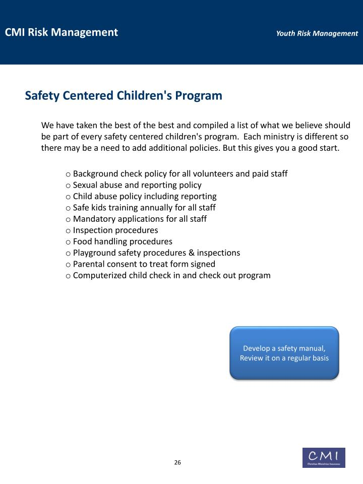 Safety Centered Children's Program