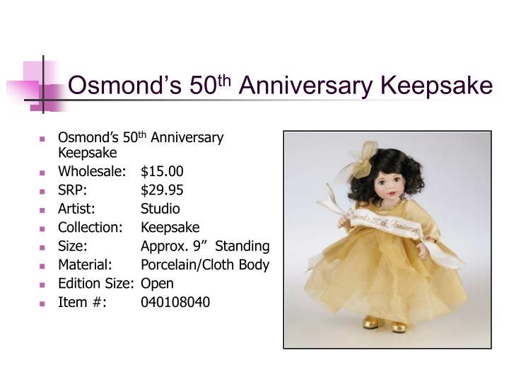 Osmond's 50