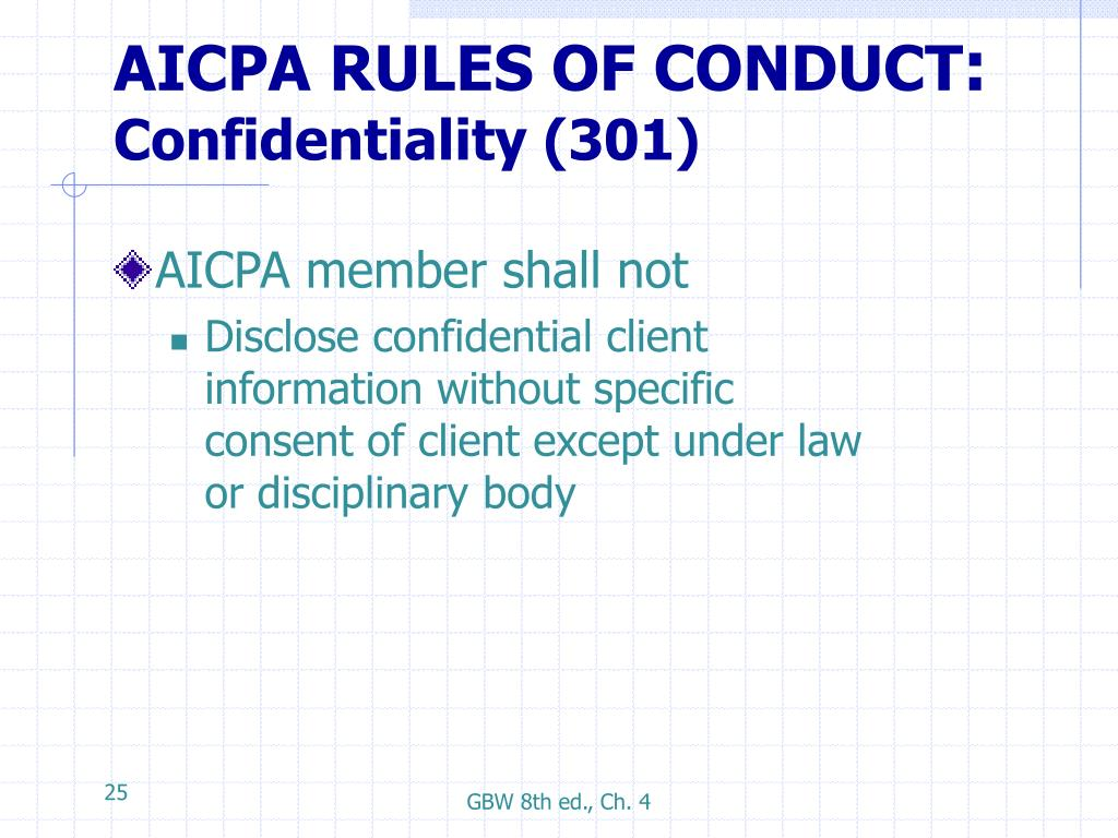 AICPA RULES OF CONDUCT