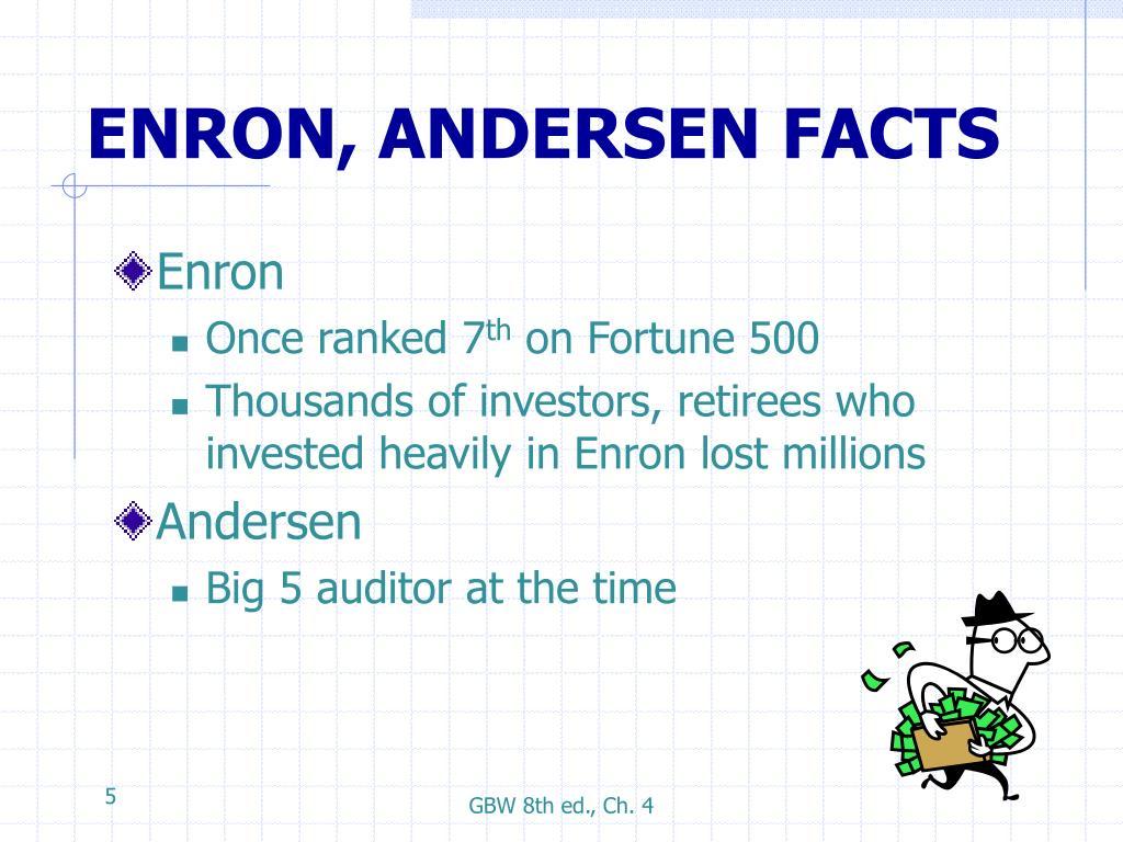 ENRON, ANDERSEN FACTS
