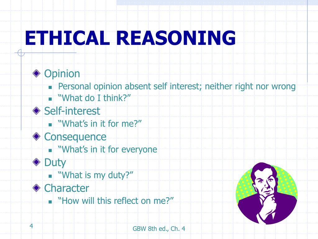 ETHICAL REASONING