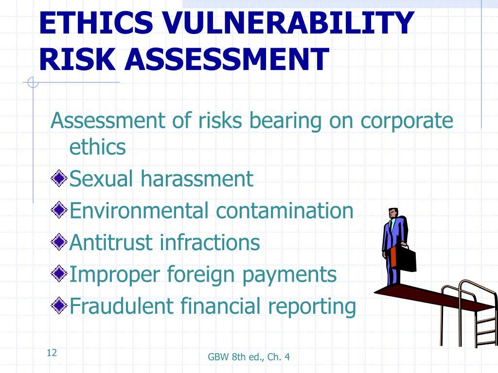 ETHICS VULNERABILITY RISK ASSESSMENT