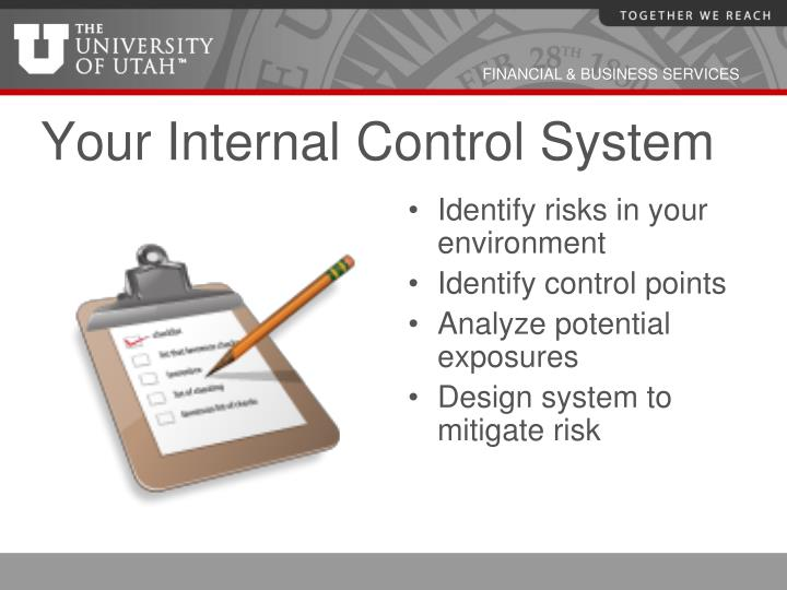 Your Internal Control System
