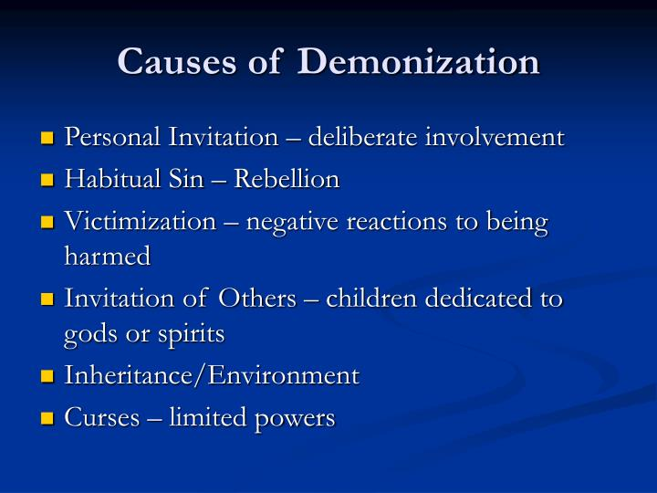 Causes of Demonization