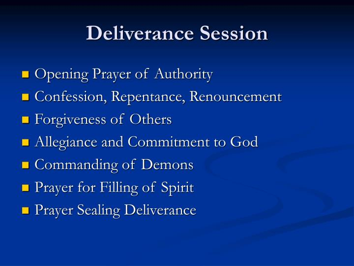 Deliverance Session