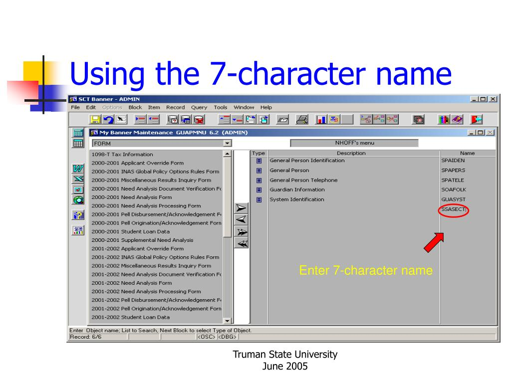 Using the 7-character name