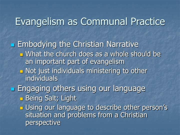Evangelism as Communal Practice