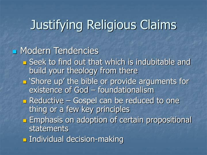 Justifying Religious Claims